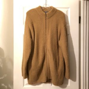 Caramel Point Sur Fuzzy Cardigan Jacket